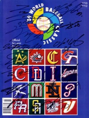 2009 Korea team autographed World Baseball Classic program Hyunjin Ryu