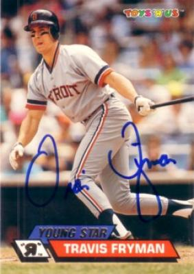 Travis Fryman autographed 1993 Detroit Tigers card