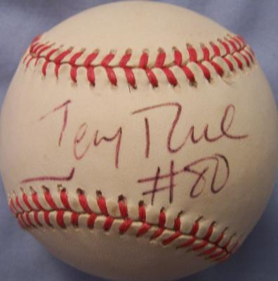 Jerry Rice autographed AL baseball