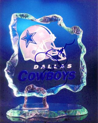 Jerry Jones autographed Dallas Cowboys logo 8x10 photo