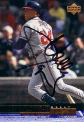 Wally Joyner autographed Atlanta Braves 2000 Upper Deck card