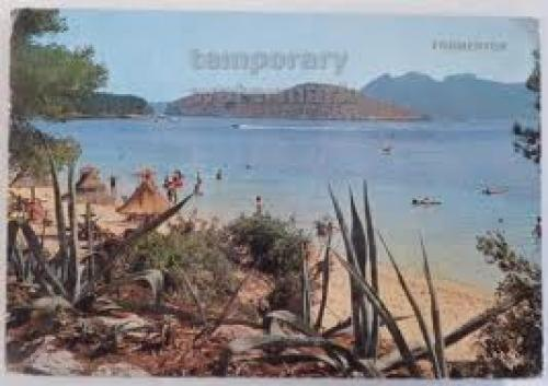 SPAIN Mallorca Formentor beach swimming 1960s postcard