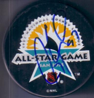 Jeremy Roenick autographed 1997 NHL All-Star Game puck