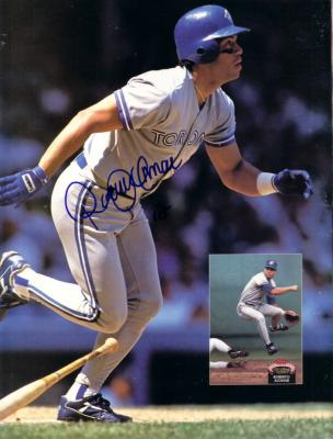 Roberto Alomar autographed Toronto Blue Jays Beckett magazine back cover photo