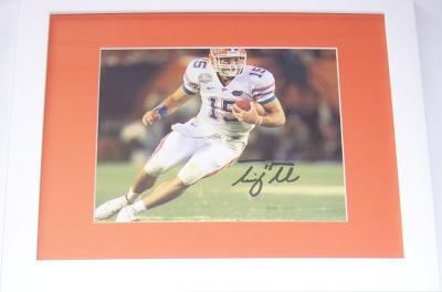 Tim Tebow autographed Florida Gators BCS Championship 8x10 photo framed