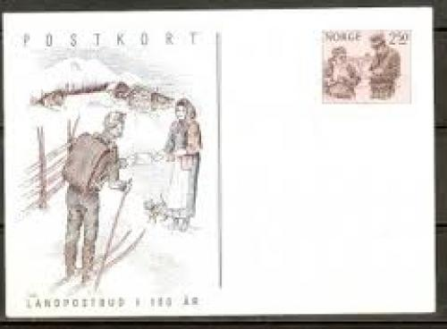 Postcard from Norway Commemorating the Centenary of Postal