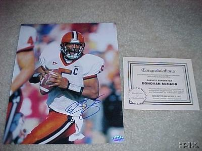 Donovan McNabb autographed Syracuse 8x10 photo