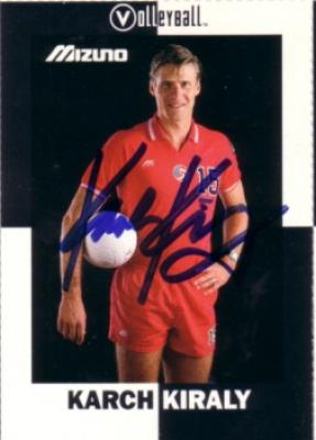 Karch Kiraly autographed 1991 Volleyball Magazine card