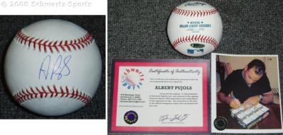 Albert Pujols autographed MLB baseball