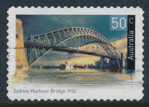 Australia 2004: 50c Sydney Harbour Bridge Used (sg 2364)
