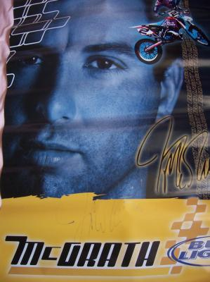 Jeremy McGrath autographed Bud Light poster