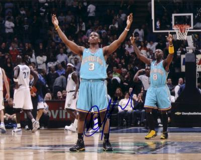 Chris Paul autographed New Orleans Hornets 8x10 photo