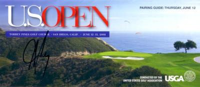 Aaron Baddeley autographed 2008 U.S. Open pairings guide