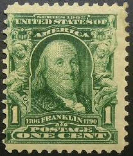 1903 B. Franklin Stamp