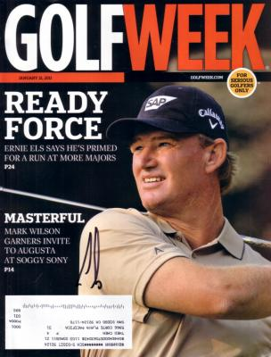 Ernie Els autographed 2011 Golfweek magazine