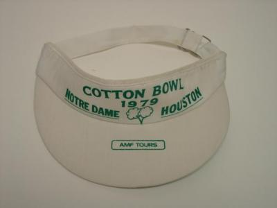 1979 Cotton Bowl visor (Joe Montana Notre Dame Chicken Soup Game)