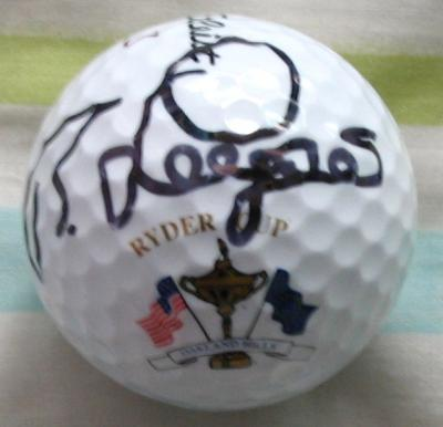 Bernhard Langer autographed 2004 Ryder Cup golf ball