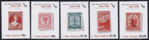 150 years stamps 5v (1855-1905 period)