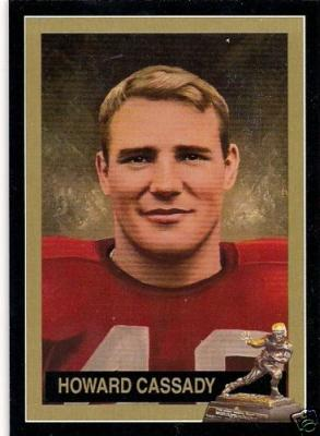 Howard (Hopalong) Cassady Ohio State Heisman Trophy winner card