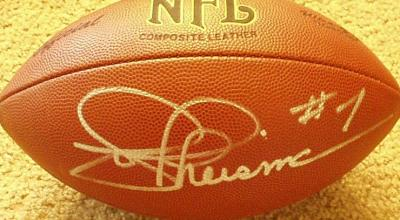 Joe Theismann autographed NFL football