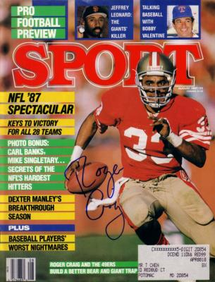 Roger Craig autographed San Francisco 49ers 1987 Sport magazine