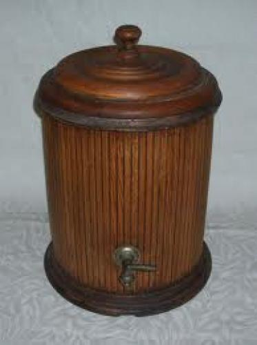 Antique Primitive Wood Water Cooler or Dispenser