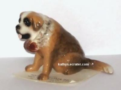 Hagen Renaker Sitting St Bernard Dog #3064 Animal Figurine