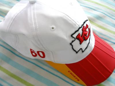 Donald Willis Kansas City Chiefs 2002 game worn Reebok sideline cap