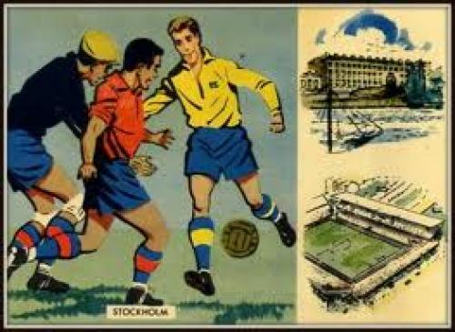 Postcards from the 1958 World Cup finals