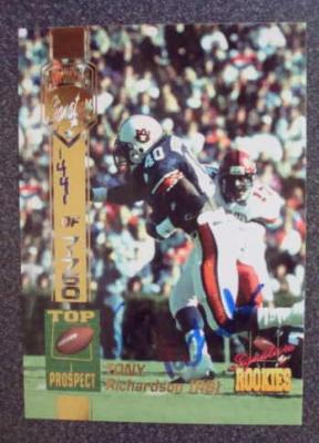 Tony Richardson Auburn certified autograph 1994 Signature Rookies card
