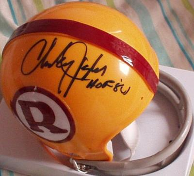 Charley Taylor autographed Washington Redskins throwback mini helmet