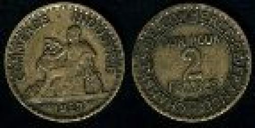 2 francs; Year: 1920-1927; (km 877)