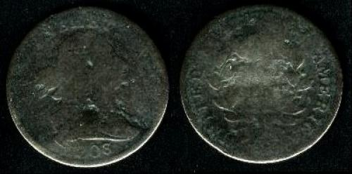 0.5 cent; Year: 1800-1808;  Draped Bus