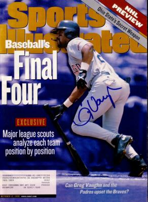 Greg Vaughn autographed San Diego Padres 1998 Sports Illustrated