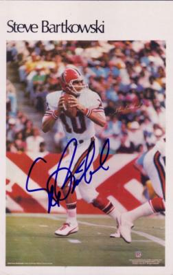 Steve Bartkowski autographed Atlanta Falcons jumbo card