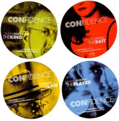 Confidence movie promo sticker set (4)