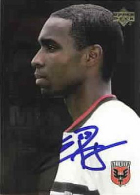 Eddie Pope autographed MLS D.C. United card