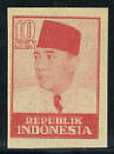 Java &amp; Madura, Sukarno 1v imperforated; Year: 1949