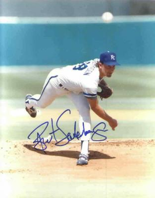 Bret Saberhagen autographed 8x10 Kansas City Royals photo
