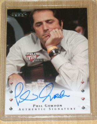 Phil Gordon certified autograph Razor poker card