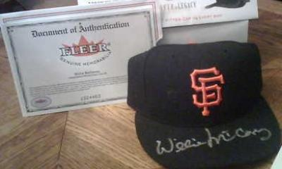 Willie McCovey autographed San Francisco Giants authentic game model cap