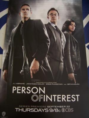 Person of Interest 2011 Comic-Con promo poster MINT