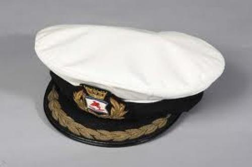 Militaria;  Merchant navy shipping officer&#039;s hat. England, circa 1960