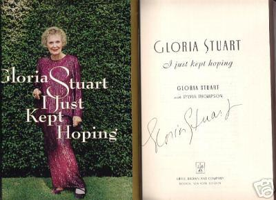 Gloria Stuart autographed I Just Kept Hoping book