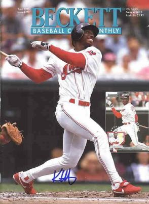 Kenny Lofton autographed Cleveland Indians 1995 Beckett Baseball magazine cover