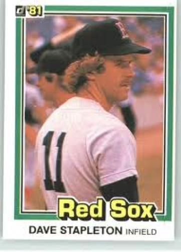Baseball Cards; 1981 Donruss #544 Dave Stapleton RC - Boston Red