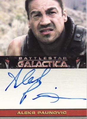 Aleks Paunovic Battlestar Galactica certified autograph card