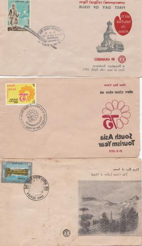 colletion of 100 pcs first day covers of nepal
