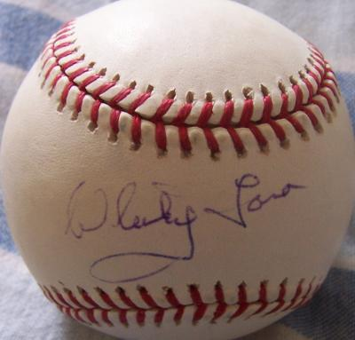 Whitey Ford autographed MLB baseball