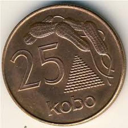 Nigerian Coins, 25 kobo; Year: 1991